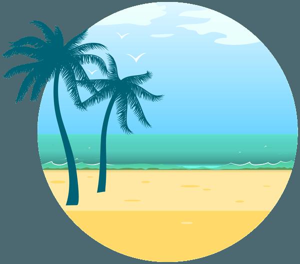 іконка пляжу